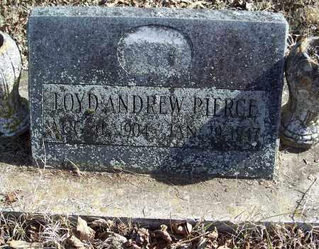 PIERCE, LOYD ANDREW - Johnson County, Arkansas   LOYD ANDREW PIERCE - Arkansas Gravestone Photos