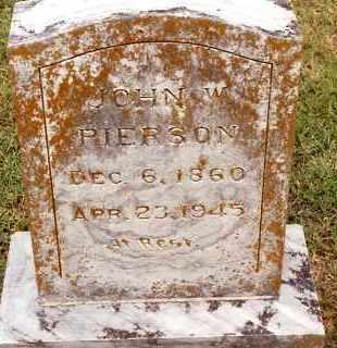 PIERSON, JOHN W. - Johnson County, Arkansas | JOHN W. PIERSON - Arkansas Gravestone Photos