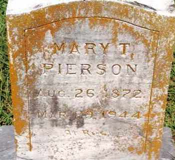 PIERSON, MARY T. - Johnson County, Arkansas | MARY T. PIERSON - Arkansas Gravestone Photos
