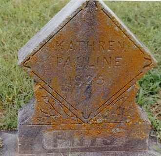 PITTS, KATHREN PAULINE - Johnson County, Arkansas | KATHREN PAULINE PITTS - Arkansas Gravestone Photos