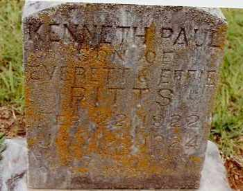 PITTS, KENNETH PAUL - Johnson County, Arkansas | KENNETH PAUL PITTS - Arkansas Gravestone Photos
