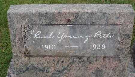YOUNG PITTS, RUTH - Johnson County, Arkansas | RUTH YOUNG PITTS - Arkansas Gravestone Photos