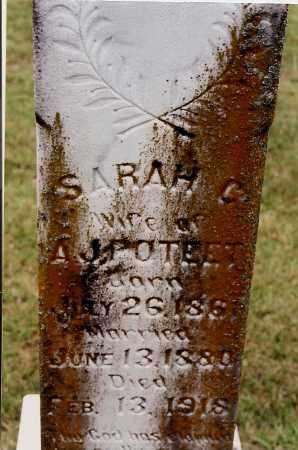 POTEET, SARAH C. - Johnson County, Arkansas | SARAH C. POTEET - Arkansas Gravestone Photos