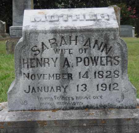POWERS, SARAH ANN - Johnson County, Arkansas   SARAH ANN POWERS - Arkansas Gravestone Photos
