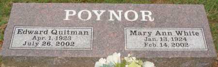 WHITE POYNOR, MARY ANN - Johnson County, Arkansas | MARY ANN WHITE POYNOR - Arkansas Gravestone Photos