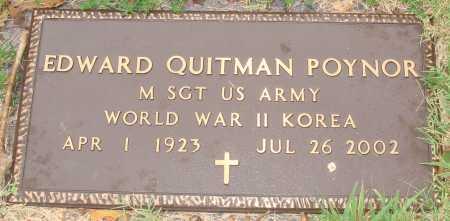 POYNOR  (VETERAN 2 WARS), EDWARD QUITMAN - Johnson County, Arkansas | EDWARD QUITMAN POYNOR  (VETERAN 2 WARS) - Arkansas Gravestone Photos