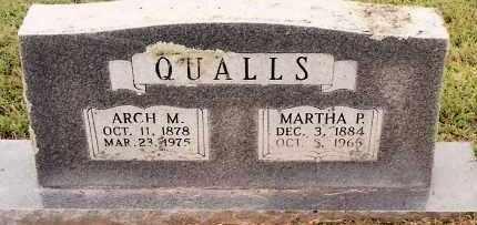 QUALLS, MARTHA P. - Johnson County, Arkansas   MARTHA P. QUALLS - Arkansas Gravestone Photos