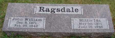 RAGSDALE, JOHN WILLIAM - Johnson County, Arkansas | JOHN WILLIAM RAGSDALE - Arkansas Gravestone Photos