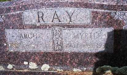 WARREN RAY, MYRTLE - Johnson County, Arkansas | MYRTLE WARREN RAY - Arkansas Gravestone Photos