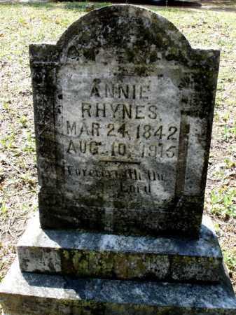 "RHYNES, BETTA ANNALOU ""ANNIE"" - Johnson County, Arkansas | BETTA ANNALOU ""ANNIE"" RHYNES - Arkansas Gravestone Photos"
