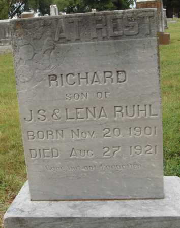 RUHL, RICHARD - Johnson County, Arkansas | RICHARD RUHL - Arkansas Gravestone Photos