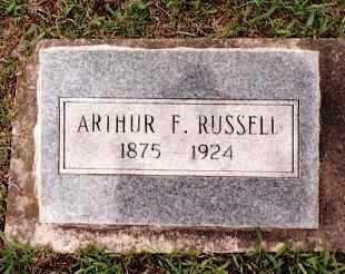 RUSSELL, ARTHUR F. - Johnson County, Arkansas | ARTHUR F. RUSSELL - Arkansas Gravestone Photos