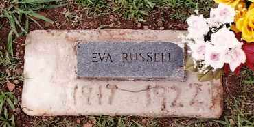 RUSSELL, EVA - Johnson County, Arkansas | EVA RUSSELL - Arkansas Gravestone Photos