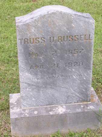 RUSSELL, TRUSS - Johnson County, Arkansas | TRUSS RUSSELL - Arkansas Gravestone Photos
