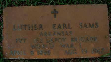 SAMS  (VETERAN WWI), LUTHER EARL - Johnson County, Arkansas | LUTHER EARL SAMS  (VETERAN WWI) - Arkansas Gravestone Photos