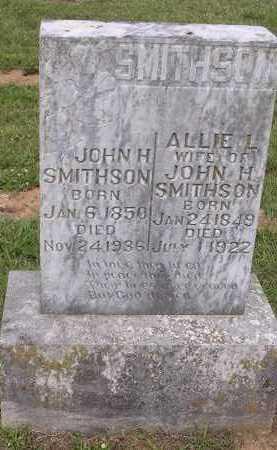 SMITHSON, ALLIE L - Johnson County, Arkansas | ALLIE L SMITHSON - Arkansas Gravestone Photos