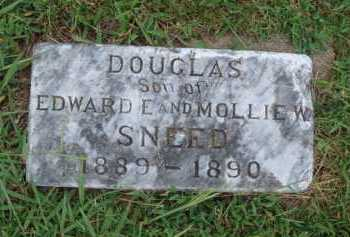 SNEED, DOUGLAS - Johnson County, Arkansas | DOUGLAS SNEED - Arkansas Gravestone Photos