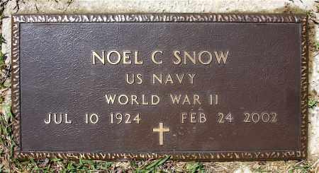 SNOW  (VETERAN WWII), NOEL C - Johnson County, Arkansas | NOEL C SNOW  (VETERAN WWII) - Arkansas Gravestone Photos