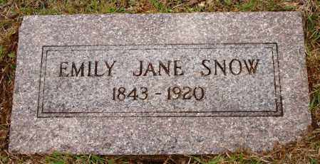 JOHNSON SNOW, EMILY JANE - Johnson County, Arkansas | EMILY JANE JOHNSON SNOW - Arkansas Gravestone Photos
