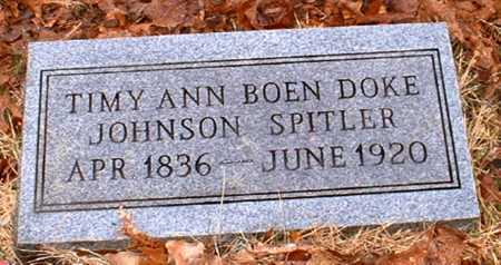 SPITLER, TIMY ANN - Johnson County, Arkansas   TIMY ANN SPITLER - Arkansas Gravestone Photos