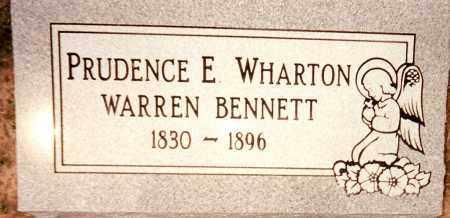 WHARTON WARREN, PRUDENCE E. - Johnson County, Arkansas | PRUDENCE E. WHARTON WARREN - Arkansas Gravestone Photos