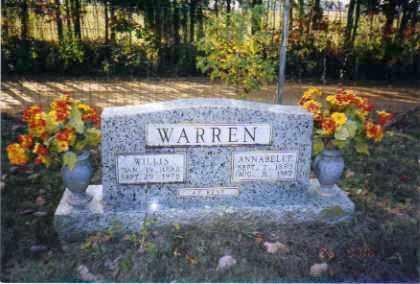 WARREN, ANNABELLE - Johnson County, Arkansas | ANNABELLE WARREN - Arkansas Gravestone Photos