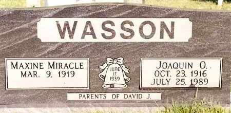 WASSON, JOAQUIN O. - Johnson County, Arkansas | JOAQUIN O. WASSON - Arkansas Gravestone Photos