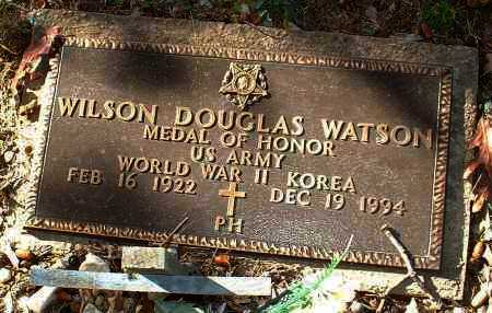 WATSON  (VETERAN 2 WARS,MOH), WILSON DOUGLAS - Johnson County, Arkansas | WILSON DOUGLAS WATSON  (VETERAN 2 WARS,MOH) - Arkansas Gravestone Photos