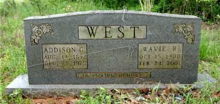 WEST, ADDISON G. - Johnson County, Arkansas   ADDISON G. WEST - Arkansas Gravestone Photos