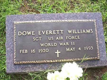 WILLIAMS (VETERAN WWII), DOWE EVERETT - Johnson County, Arkansas   DOWE EVERETT WILLIAMS (VETERAN WWII) - Arkansas Gravestone Photos