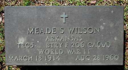 WILSON  (VETERAN WWII), MEADE S - Johnson County, Arkansas | MEADE S WILSON  (VETERAN WWII) - Arkansas Gravestone Photos