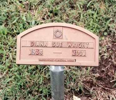 WRIGHT, DIANA SUE - Johnson County, Arkansas | DIANA SUE WRIGHT - Arkansas Gravestone Photos