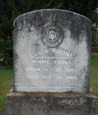 YOUNG, GEORGE A. - Johnson County, Arkansas | GEORGE A. YOUNG - Arkansas Gravestone Photos