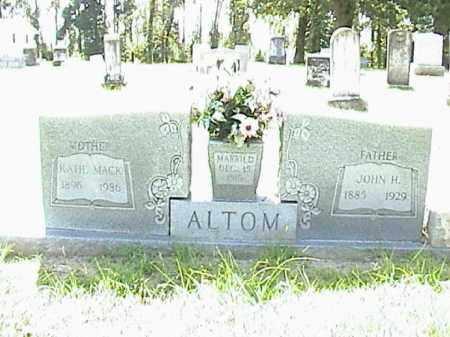 ALTOM, JOHN H. - Lafayette County, Arkansas | JOHN H. ALTOM - Arkansas Gravestone Photos