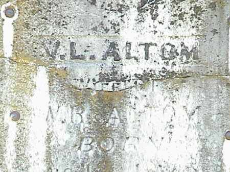 ALTOM, VALLIE LENA - Lafayette County, Arkansas | VALLIE LENA ALTOM - Arkansas Gravestone Photos