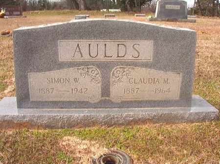 AULDS, CLAUDIA M - Lafayette County, Arkansas | CLAUDIA M AULDS - Arkansas Gravestone Photos