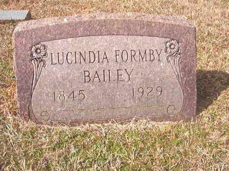 FORMBY BAILEY, LUCINDIA - Lafayette County, Arkansas | LUCINDIA FORMBY BAILEY - Arkansas Gravestone Photos