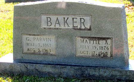BAKER, MATTIE A - Lafayette County, Arkansas | MATTIE A BAKER - Arkansas Gravestone Photos