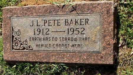 "BAKER, J L ""PETE"" - Lafayette County, Arkansas | J L ""PETE"" BAKER - Arkansas Gravestone Photos"