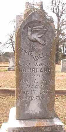 BOURLAND, EFFIE IDELLA - Lafayette County, Arkansas | EFFIE IDELLA BOURLAND - Arkansas Gravestone Photos