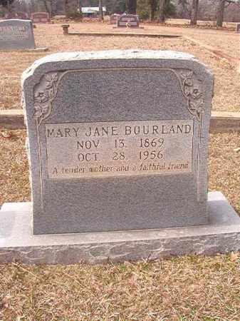 BOURLAND, MARY JANE - Lafayette County, Arkansas   MARY JANE BOURLAND - Arkansas Gravestone Photos