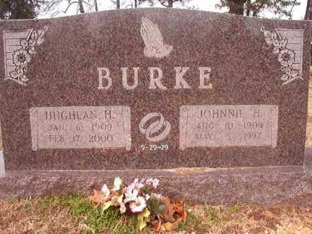 BURKE, JOHNNIE H - Lafayette County, Arkansas | JOHNNIE H BURKE - Arkansas Gravestone Photos