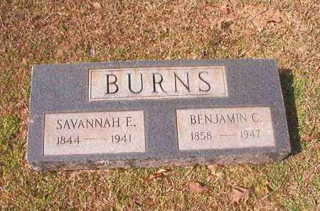 BURNS, BENJAMIN C - Lafayette County, Arkansas | BENJAMIN C BURNS - Arkansas Gravestone Photos