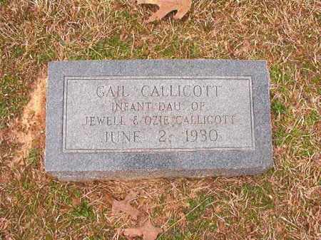 CALLICOTT, GAIL - Lafayette County, Arkansas | GAIL CALLICOTT - Arkansas Gravestone Photos