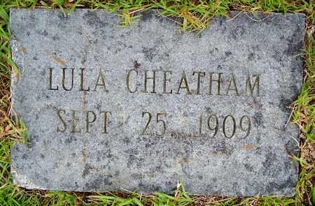CHEATHAM, LULA - Lafayette County, Arkansas   LULA CHEATHAM - Arkansas Gravestone Photos