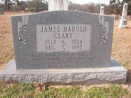 CLARY, JAMES HAROLD - Lafayette County, Arkansas | JAMES HAROLD CLARY - Arkansas Gravestone Photos
