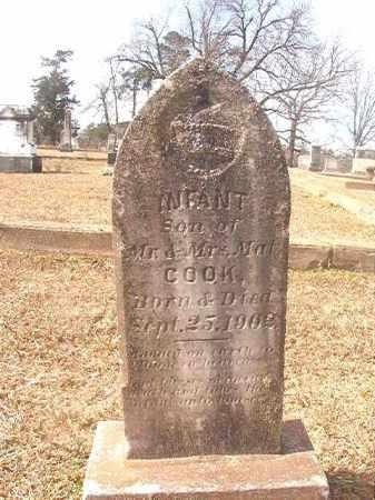 COOK, INFANT SON - Lafayette County, Arkansas | INFANT SON COOK - Arkansas Gravestone Photos