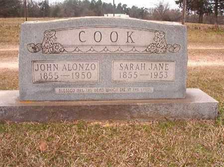 COOK, SARAH JANE - Lafayette County, Arkansas | SARAH JANE COOK - Arkansas Gravestone Photos