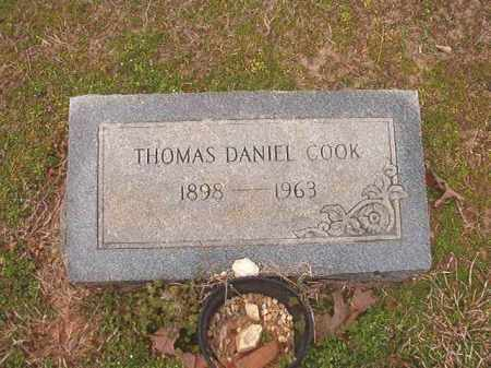 COOK, THOMAS DANIEL - Lafayette County, Arkansas | THOMAS DANIEL COOK - Arkansas Gravestone Photos