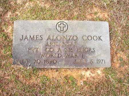 COOK (VETERAN WWI), JAMES ALONZO - Lafayette County, Arkansas   JAMES ALONZO COOK (VETERAN WWI) - Arkansas Gravestone Photos